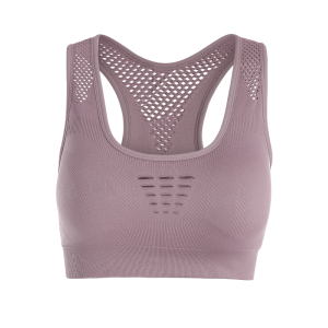 Breathable Openwork Sports Padded Bra -