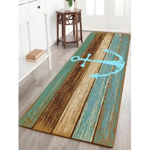 Deck Anchor Pattern Water Absorption Indoor Outdoor Area Rug - Cyan - W24 Inch * L71 Inch
