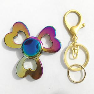 EDC Heart Clover Fidget Spinner Cool Keyring - GOLDEN