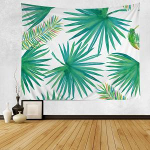 Wall Hanging Art Decoration Tropical Leaf Print Tapestry - Green - W79 Inch*l59 Inch