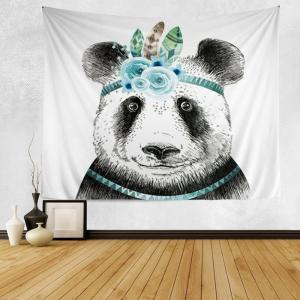 Panda Print Tapestry Wall Hanging Art Decoration - Black White - W59 Inch*l51 Inch