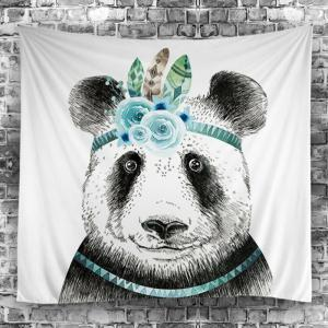 Panda Print Tapestry Wall Hanging Art Décoration -