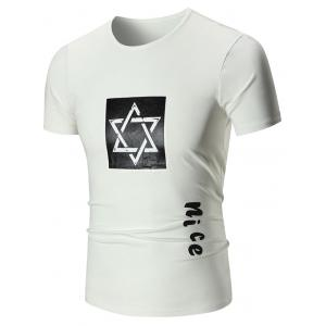 Nice Graphic Star Print Short Sleeve T-shirt
