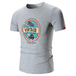 Smile Face Patch Vintage Graphic T-shirt