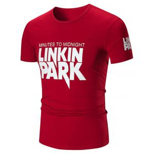 Linkin Park Graphic Slim Fit T-shirt - Wine Red - L