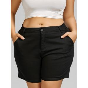 Plus Size Mini Shorts with Pockets