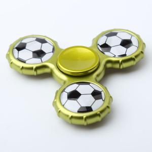 Fidget Toy Football Pattern Sport Hand Spinner - YELLOW + GREEN 8*8*1.3CM