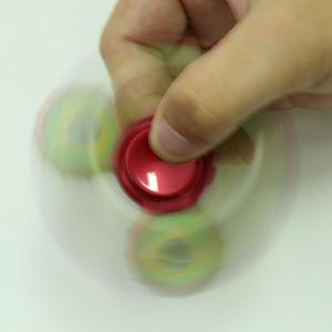 Fidget Toy Football Pattern Sport Hand Spinner - Rouge Foncu00e9 8*8*1.3CM