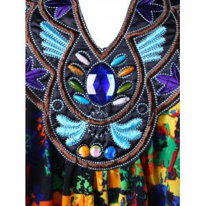 Plus Size Embroidery Decorated Handkerchief Tank Top - COLORMIX XL