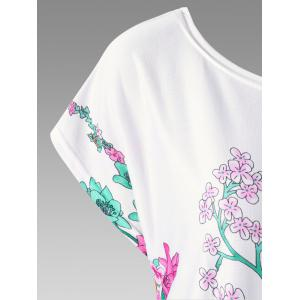 Floral Curved Hem Plus Size Baggy Top -