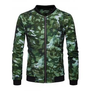 Lion Head Print Camo Jacket -