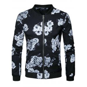 Veste à imprimé imprimé Zip Up -