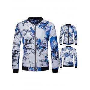 Zip Up Floral Print Jacket