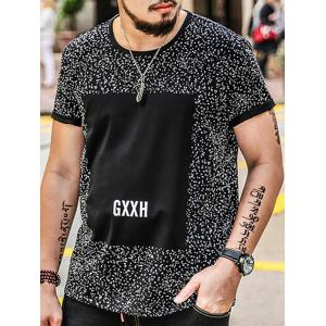 Plus Size Splatter Printed Graphic Tee -