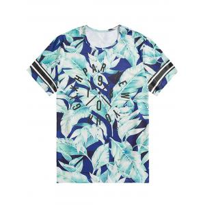 Plus Size Leaf Graphic Printed Tee -