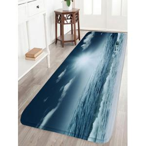 Moonlight Sea Flannel Water Absorption Bath Mat