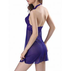 Halter Mesh See-through Babydoll -