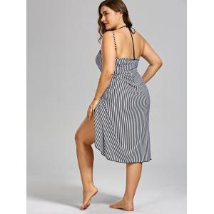 Plus Size Stripe Cover-up -