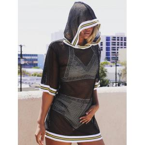 Hooded Fishnet Cover Up -