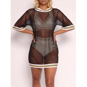 Hooded Fishnet Cover Up