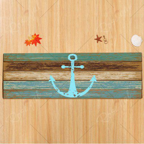 Latest Deck Anchor Pattern Water Absorption Indoor Outdoor Area Rug - W24 INCH * L71 INCH CYAN Mobile