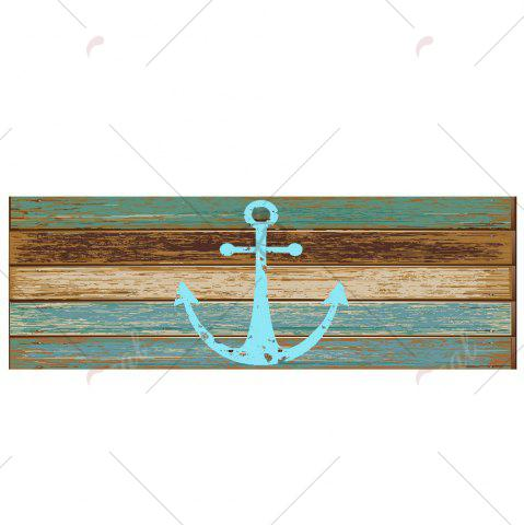 Outfits Deck Anchor Pattern Water Absorption Indoor Outdoor Area Rug - W24 INCH * L71 INCH CYAN Mobile