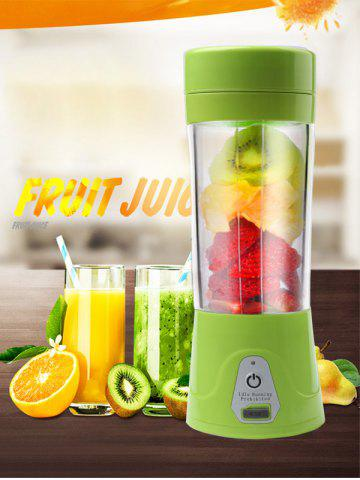 USB Charge Fruit Stirring Healthy Multifunctional Juicer Cup Vert