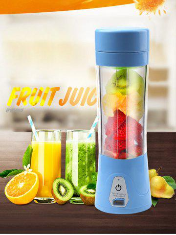 New USB Charge Fruit Stirring Healthy Multifunctional Juicer Cup BLUE