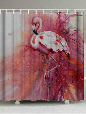 2018 Waterproof Flamingo Shower Curtain With Hooks