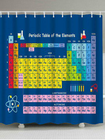 Colorful w71 inch l79 inch periodic table of elements fabric periodic table of elements fabric waterproof shower curtain urtaz Image collections