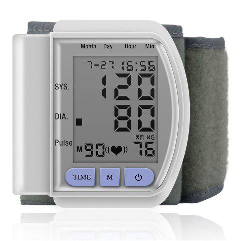 Outfits Health Care Digital Upper Automatic Wrist Blood Pressure Monitor - WHITE  Mobile