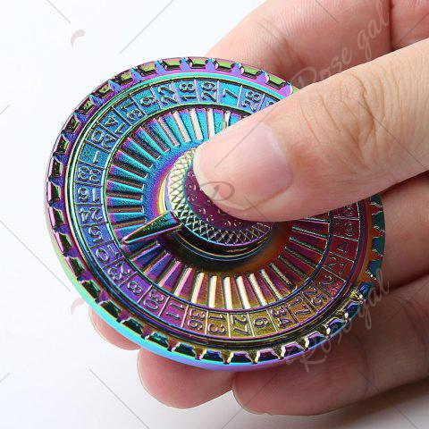 Discount Stress Reducer Alloy Turntable Shape Hand Spinner - 6*6*1.3CM COLORFUL Mobile