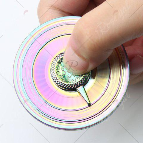 Fancy Stress Reducer Alloy Turntable Shape Hand Spinner - 6*6*1.3CM COLORFUL Mobile