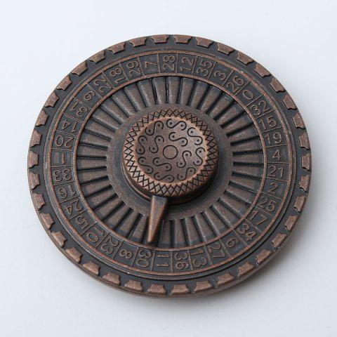 Stress Reducer Alloy Turntable Shape Hand Spinner - Bronze-colored - 6*6*1.3cm