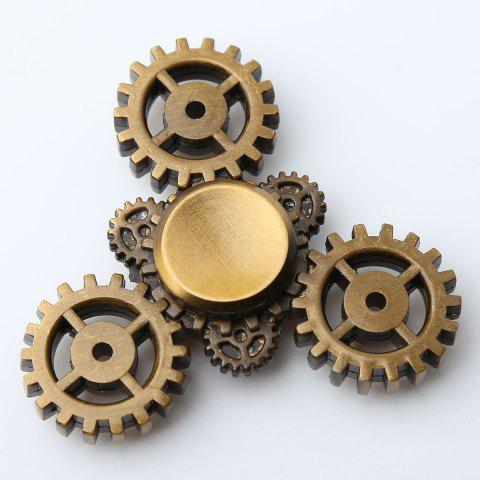 Anti Stress Triangle Gear EDC Fidget Spinner - Bronze-colored - 7*7*1.3cm