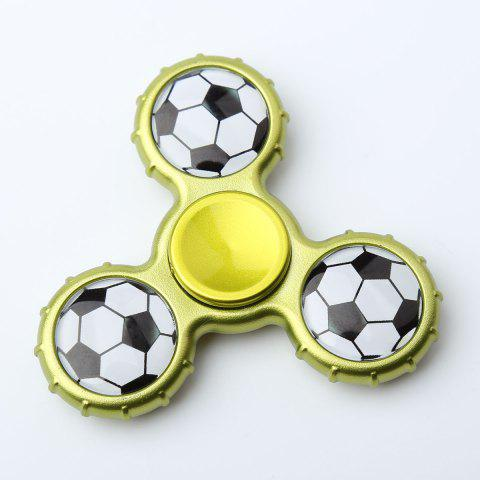 Outfits Fidget Toy Football Pattern Sport Hand Spinner - 8*8*1.3CM YELLOW + GREEN Mobile