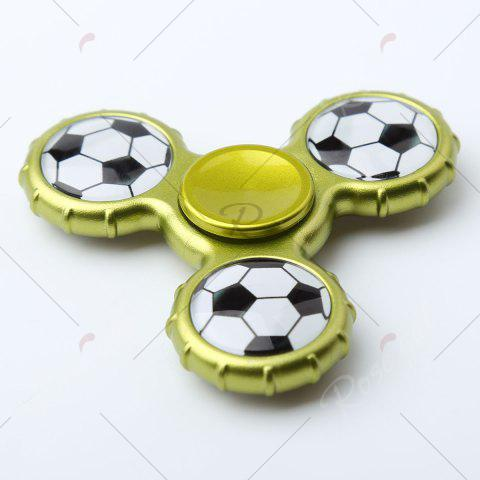 Fancy Fidget Toy Football Pattern Sport Hand Spinner - 8*8*1.3CM YELLOW + GREEN Mobile