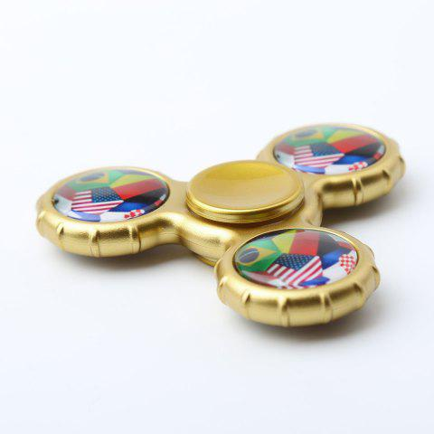Outfits Fidget Toy Football Pattern Sport Hand Spinner - 8*8*1.3CM GOLDEN Mobile