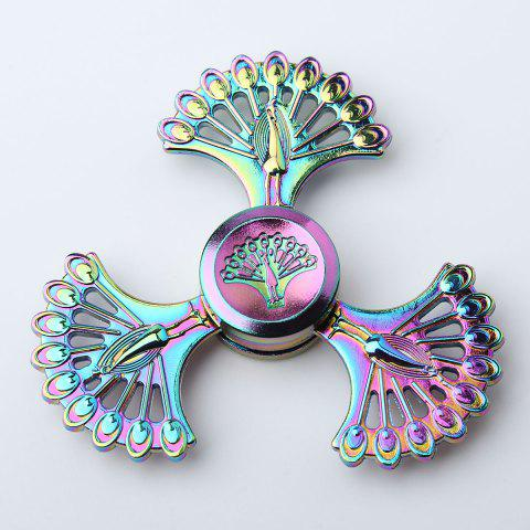 High Speed Peacock Blades Fidget Finger Spinner - Colorful - 7.5*7.5*1.3cm