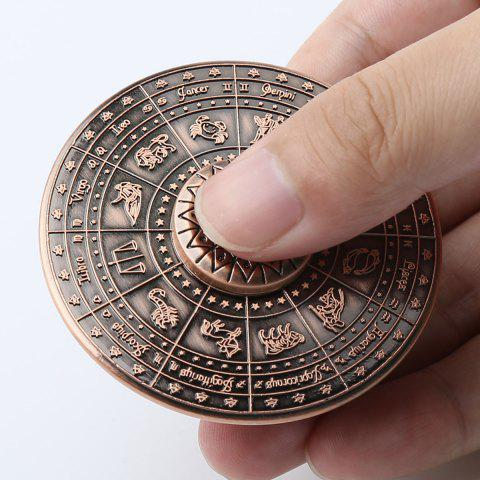 Discount 12 Constellation Print Fidget Toy Alloy Hand Spinner - 6*6*1.5CM RED BRONZED Mobile