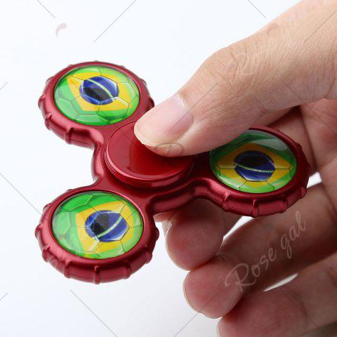 Unique Fidget Toy Football Pattern Sport Hand Spinner - 8*8*1.3CM DEEP RED Mobile
