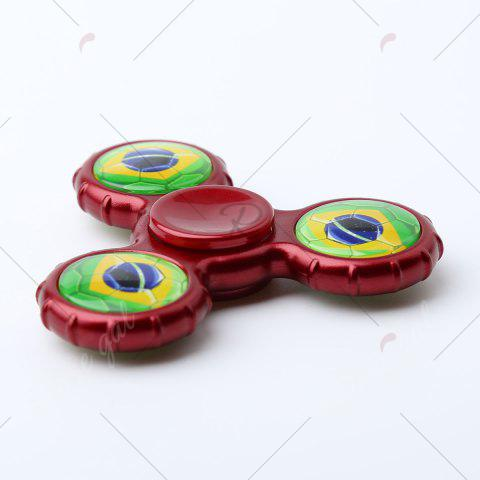 Trendy Fidget Toy Football Pattern Sport Hand Spinner - 8*8*1.3CM DEEP RED Mobile