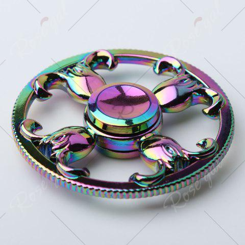 Discount Round Colorful Sheepshead EDC Fidget Spinner - 6.5*6.5*1.3CM COLORFUL Mobile