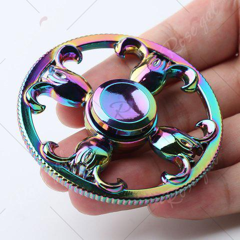 Outfits Round Colorful Sheepshead EDC Fidget Spinner - 6.5*6.5*1.3CM COLORFUL Mobile