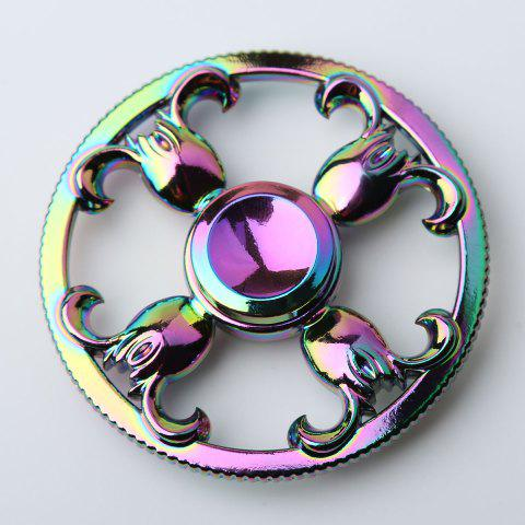Online Round Colorful Sheepshead EDC Fidget Spinner - 6.5*6.5*1.3CM COLORFUL Mobile