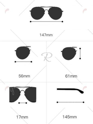 Best Metal Wave Design Rectangle Frame Sunglasses - BLUE  Mobile