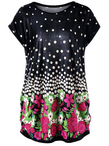Best Floral and Polka Dot Plus Size Baggy Top