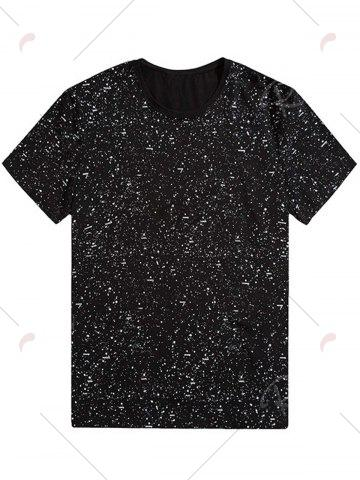 Outfits Plus Size Splatter Printed Tee - 7XL BLACK Mobile