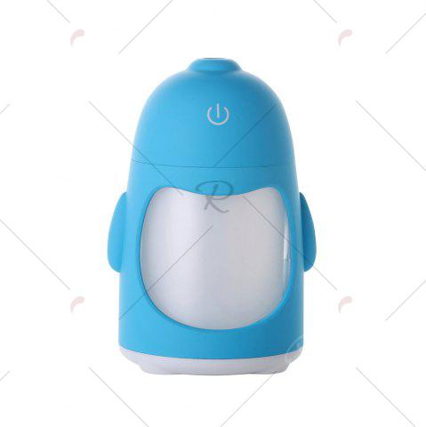 Chic Colorful Night Light USB Rechargeable Penguin Mini Humidifier - BLUE  Mobile