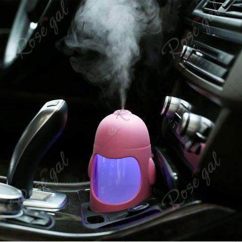Sale Colorful Night Light USB Rechargeable Penguin Mini Humidifier - PINK  Mobile